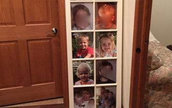 Vintage Window Repurposed as Picture Frame