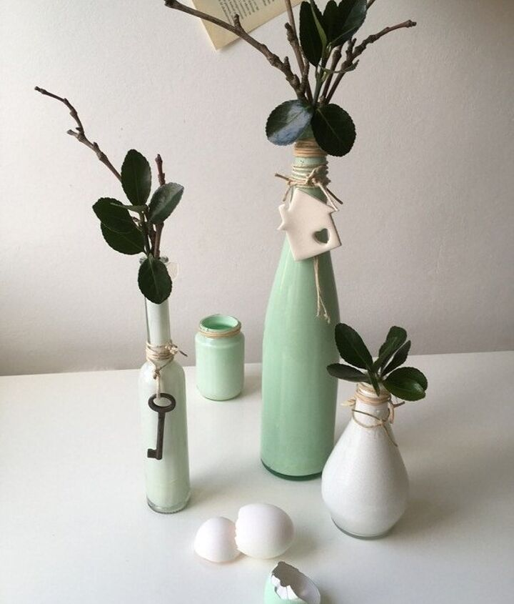 how to make easy painted vases, how to