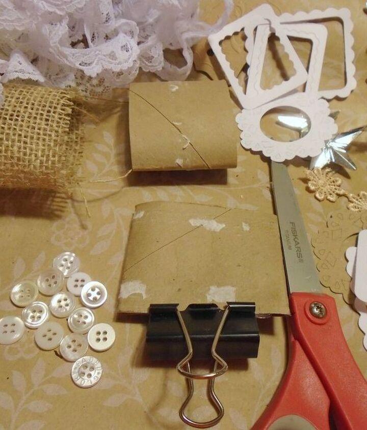 mini basket ornaments from toilet paper tubes, bathroom ideas, christmas decorations, crafts, seasonal holiday decor