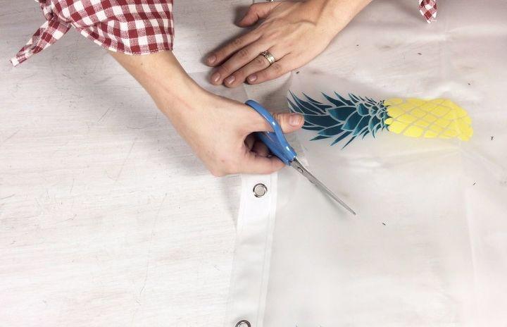 reusable bowl covers from a shower curtain, bathroom ideas, home decor, window treatments