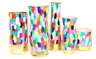 upcycle old glass flower vases, gardening