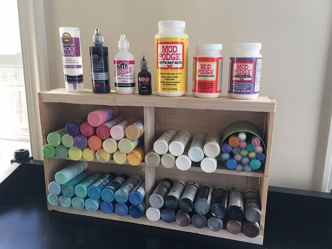 beaucoup paint storage from a hobby lobby small natural wood pallet, pallet, storage ideas