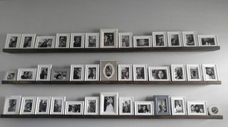 , My boyfriend made these for me I absolutely love them I filled the shelves with black and white photos of our children and grandchildren Thank you so much for the inspiration