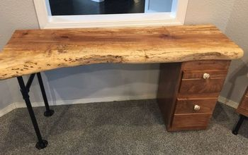 Live Edge Desk & Sidetable  Designed for My Beautiful Dad