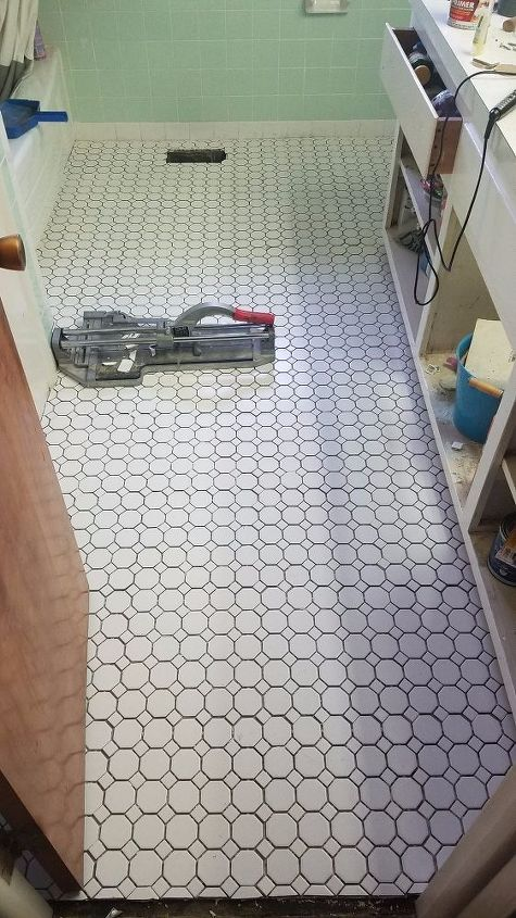 diy floor makeover how to grout a tile floor, cleaning tips, flooring, how to, tiling