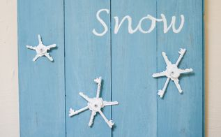 upcycle old keys let it snow wall art, crafts