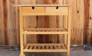 diy ikea coffee cart, painted furniture