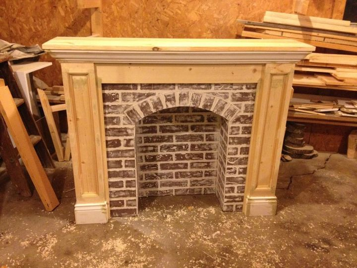 if you re going to make it better fake it diy faux brick fireplace, concrete masonry, fireplaces mantels