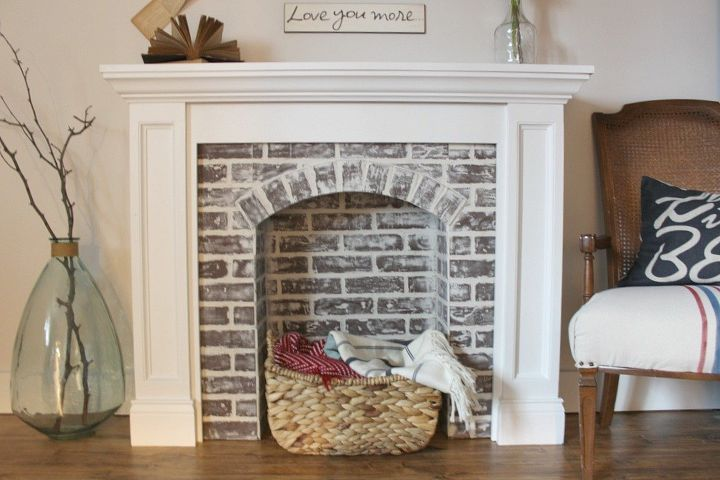 If You Re Going To Make It Better Fake Diy Faux Brick Fireplace