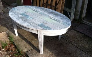 rustic coastal coffee table makeover, painted furniture