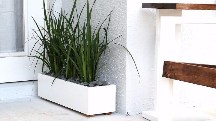 modern planter box, gardening