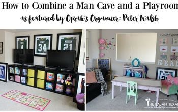 MAN CAVE PLAY ROOM ORGANIZATION (FEATURED BY PETER WALSH OPRAH'S ORG