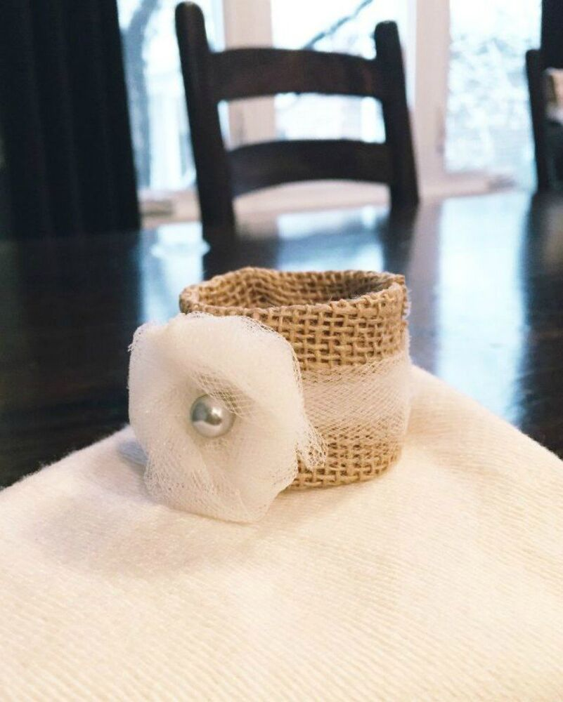 Burlap bathroom ideas - Cover Them In Burlap For Napkin Rings