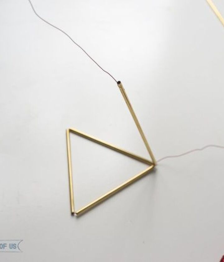diy brass and wood airplant holder