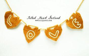 Valentine's Day Felted Heart Garland