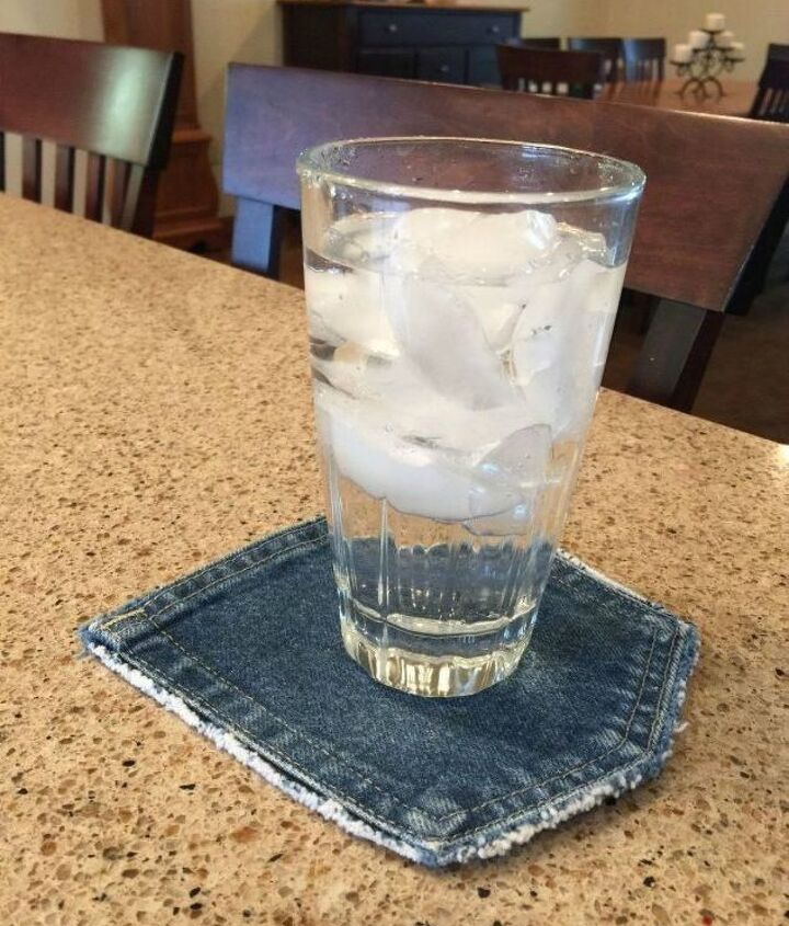 s 19 gorgeous reasons to dig your old jeans out of the closet, crafts, repurposing upcycling, Cut a pair of jeans into a cute coaster
