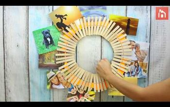 DIY Clothespin Picture Holder