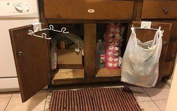 Peel-n-Stick Cabinet Makeover