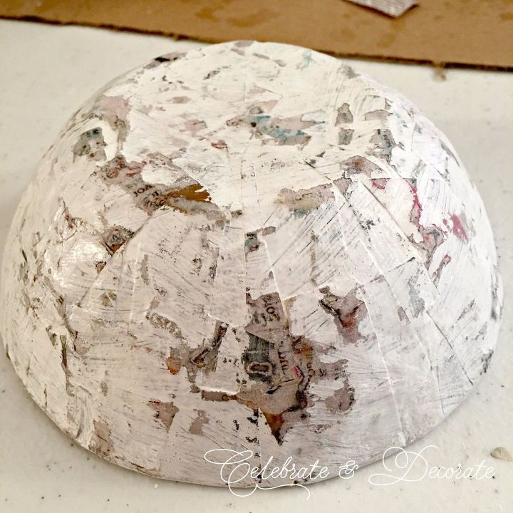 diy paper mache bowls