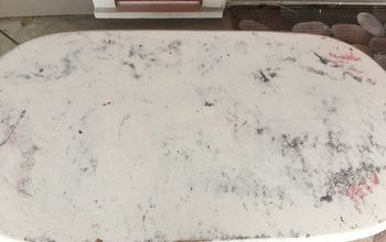faux marble table, flooring, painted furniture, tiling