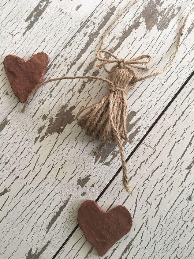 bead garland with jute twine tassels