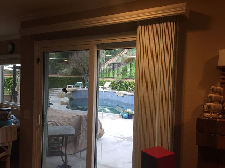 q suggestions for changing verticals blinds to curtains, home decor, window treatments