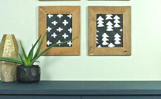 diy modern wall art, crafts