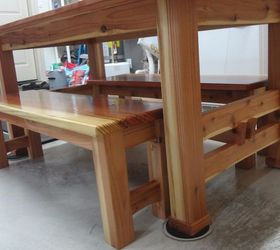 Dining Table Made From Tennessee Red Cedar And 2x6 Redwood Boards,  Landscape, Painted Furniture