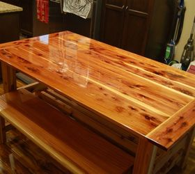 Superior Dining Table Made From Tennessee Red Cedar And 2x6 Redwood Boards,  Landscape, Painted Furniture