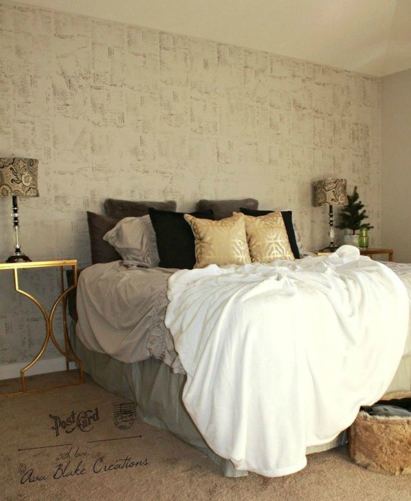 Stencil your walls with stamps. 13 Stylish Ideas You ll Want to Steal for Your Boring Bedroom