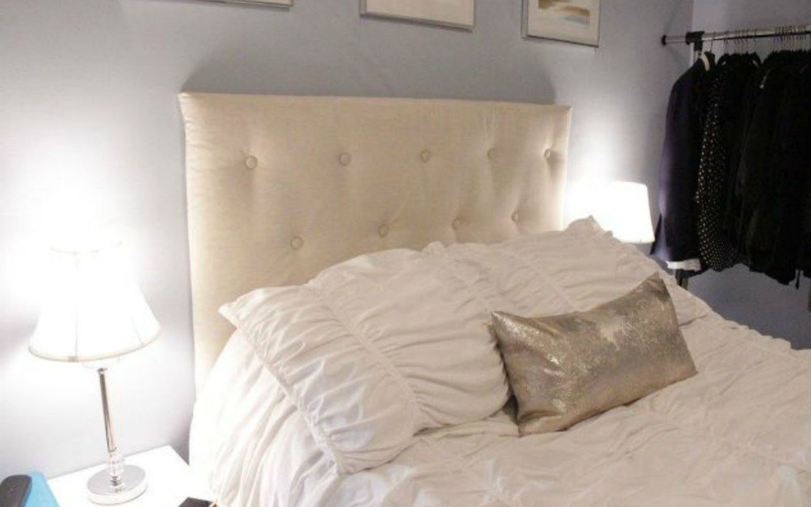 s 13 stylish ideas you ll want to steal for your boring bedroom, bedroom ideas, Create your own tufted headboard