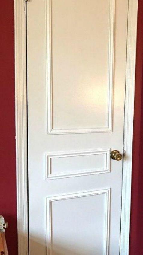 s hate your boring door try these 13 brilliant ideas, doors, Cut moulding into door panels