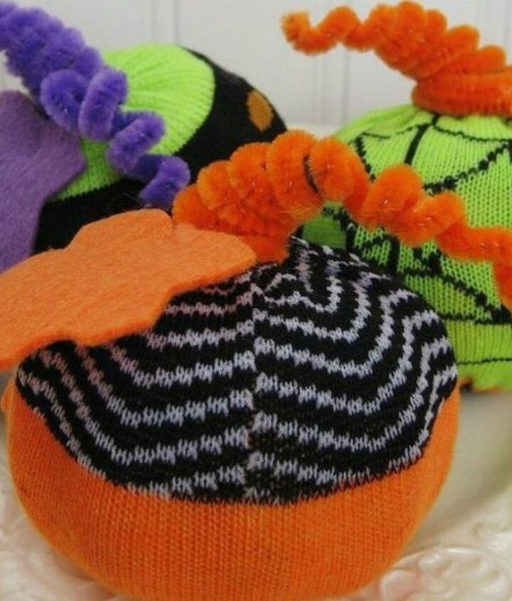 s save your socks for these 16 cute ideas, Or squeeze them over styrofoam ones