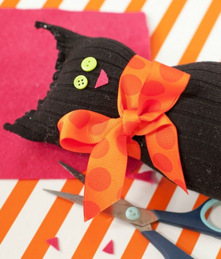 s save your socks for these 16 cute ideas, Or into a cool black cat