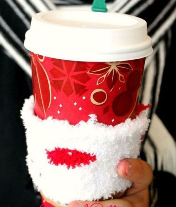 s save your socks for these 16 cute ideas, Strip them into coffee sleeves