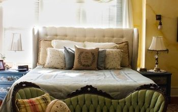 DIY Diamond Tufted Upholstered Headboard
