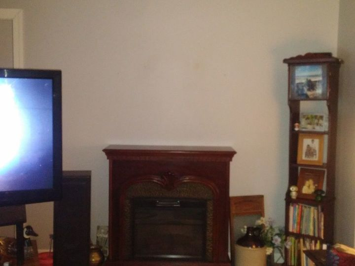 q want to place tv over fireplace, fireplaces mantels