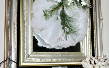Make A Winter White Wreath for Under $5!