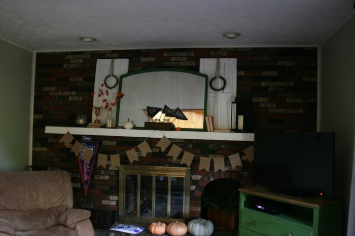 painted grout fireplace makeover, cleaning tips, fireplaces mantels, tiling