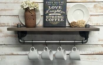 Rustic Farmhouse Inspired Shelf
