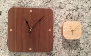 modern wood clocks walnut and maple, woodworking projects