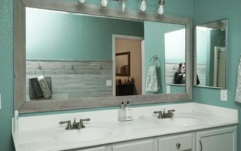 DIY Bathroom Mirror Makeover for Under $10