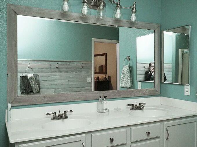 diy bathroom mirror makeover for under 10, bathroom ideas, home decor