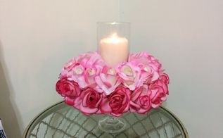 valentine s day candle holder centerpiece, seasonal holiday decor, valentines day ideas