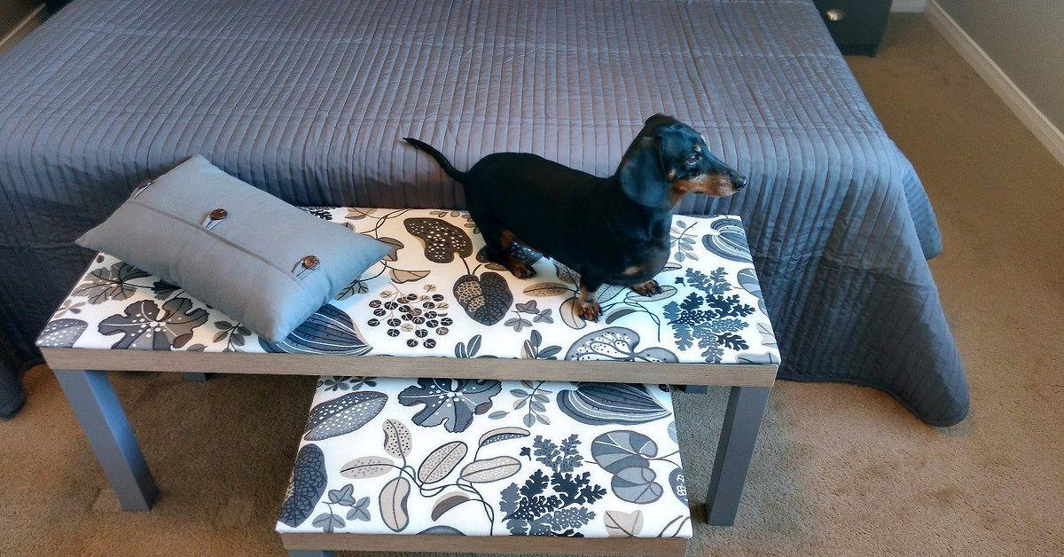 fccc550effe1 Upholstered Bedroom Bench (IKEA Hack)