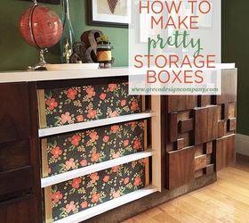 How To Make Pretty Storage Boxes, How To, Storage Ideas