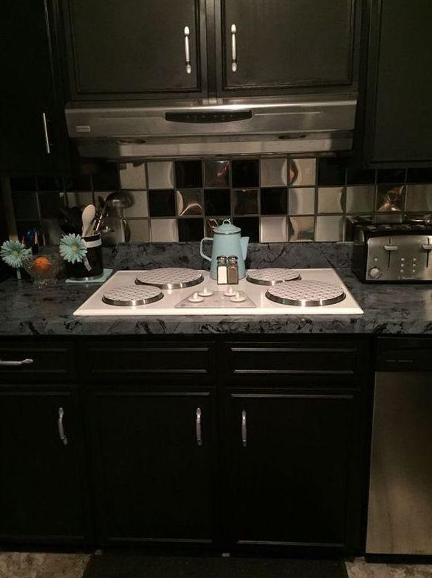 Cheap Way to Cover Ur Ugly Kitchen Backsplash Tile | Hometalk
