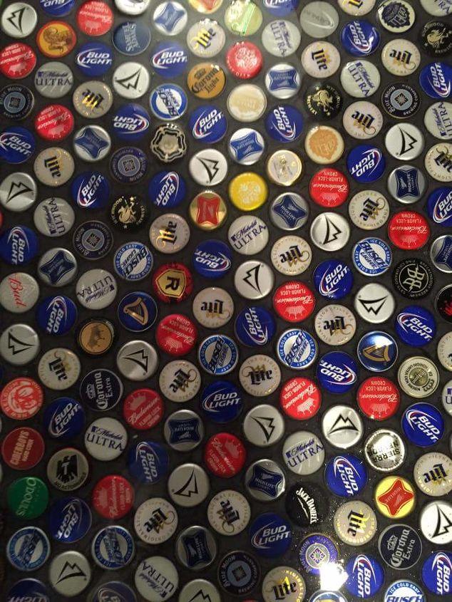 q beer cap bathroom floor, bathroom ideas, flooring