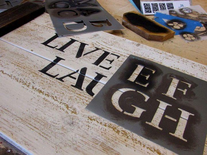 diy stencil serving tray