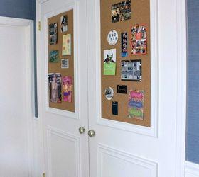 closet door diy makeover with molding and bulletin boards closet doors wall decor & Closet Door DIY Makeover With Molding and Bulletin Boards!   Hometalk